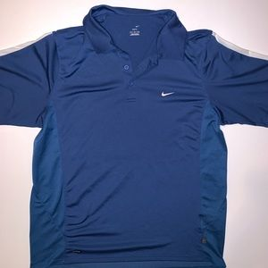 Nike Court Tennis Polo Blue with White on sleeves